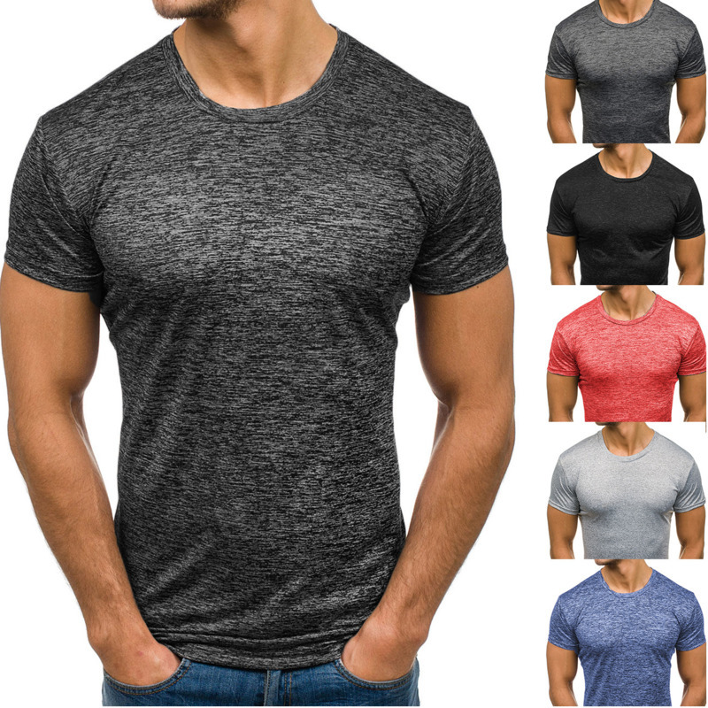 Summer Men's Round Neck Casual Short-sleeved Slim fit T-shirt fashion tshirts male mens clothing t shirts shirt