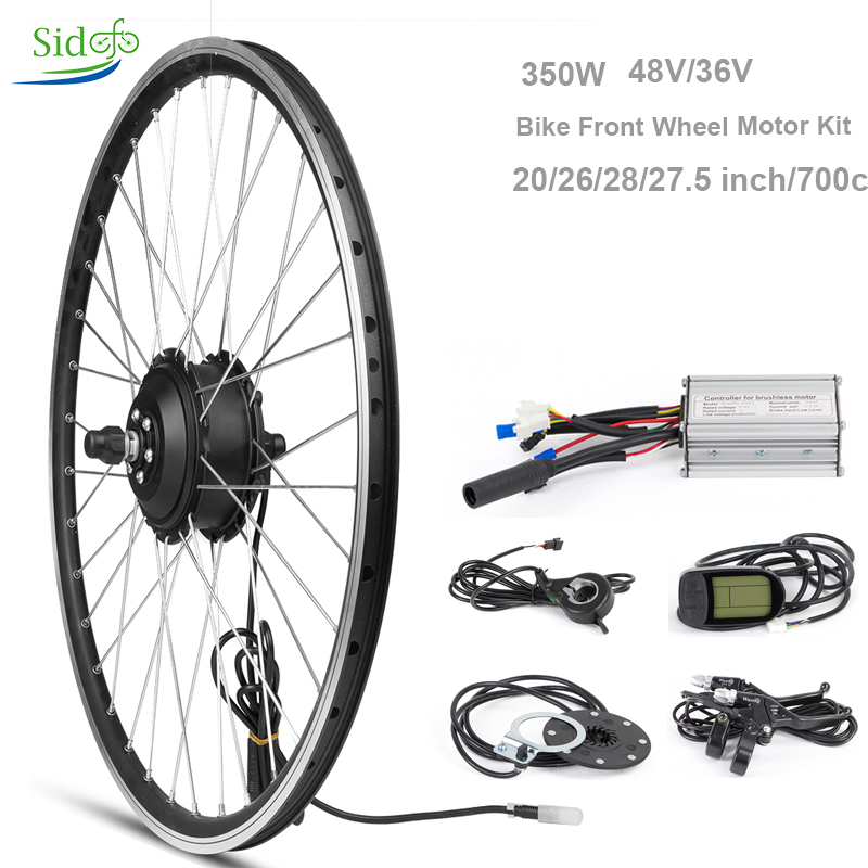 36 V 48 V 350 W Kit Vélo Vélo Hub Moteur Électrique Contrôleur 20 26 27.5 28 700 c Vélo Roue Arrière Vélo de Moteur BLDC Kit