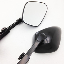 For Motorcycle honda suzuki yamaha kawasaki bike BLACK Diamond shape Rearview Mirrors