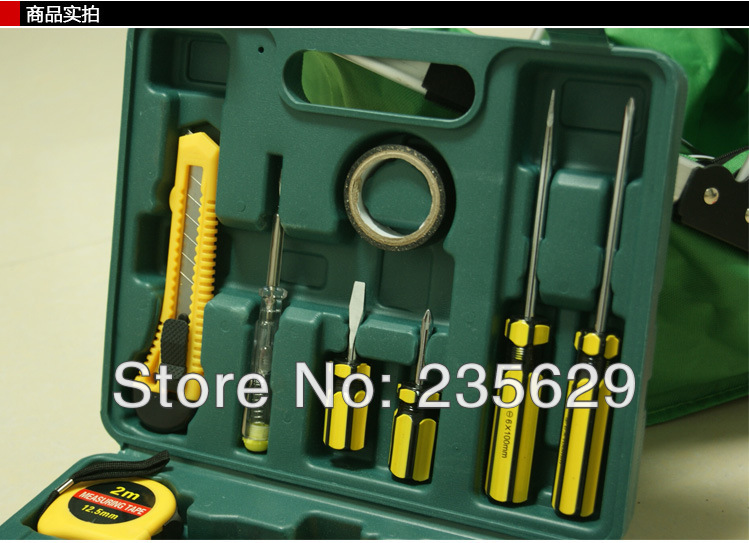 Free Shipping, 12pc Household hardware tools,home tools kit, carpenter hardware tools set, hand tool sets wireless data collector handheld barcode reader scanner laser bar code real time pos terminal nt c6