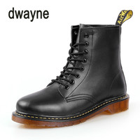 Men Boots Leather Winter Warm Motorcycle Shoes for Men Half boots Martin Martin Boots Men's Oxford Winter Boots