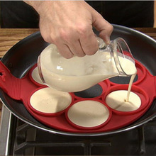 Nem Stick Szilikon Cake Mold Tökéletes Pancakes Mold Tojás Gyűrű Palacsinta Konyha Főzőeszközök Sütés Moul