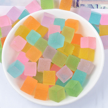 Happy Monkey 20pcs/pack DIY Slime Supplies Toys Resin Square Colorful Candy Slime Accessories Filler For Fluffy Clear Slime