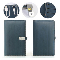 Organizer Agenda A6 Built In Power Bank Mother Son Gifts A6 Small Notepad Book Charger With