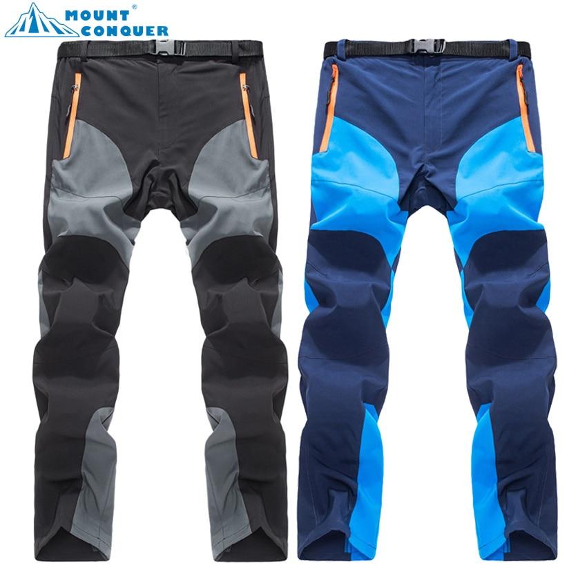 MOUNT CONQUER 2017 גברים קיץ מהיר יבש מכנסיים בחוץ ספורט לנשום טיולים קמפינג טרקים דיג טיפוס מכנסיים