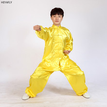 цена Long sleeved tai chi clothing, training suit for children's martial arts and martial arts, Chinese Taiji Wushu clothing онлайн в 2017 году
