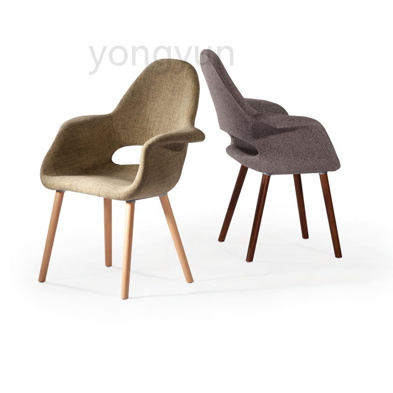 Us 278 0 Living Room Furniture For Home Table Casual Plastic Dining Chair Leisure Fashion Modern Bedroom Simple Polyester Cloth In
