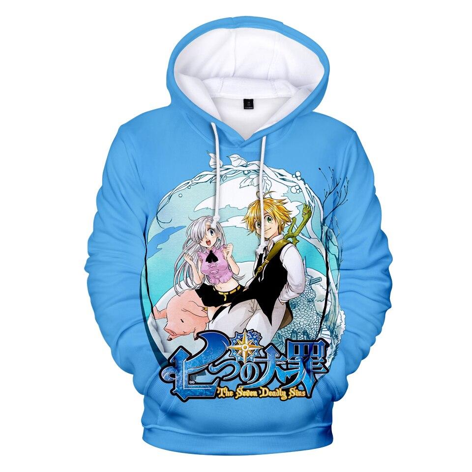 3D Nanatsu No Taizai Hoodies Men/Women Sweatshirts 3D Print Fashion Hip Hop Novelty Streetwear Nanatsu No Taizai Hoodies