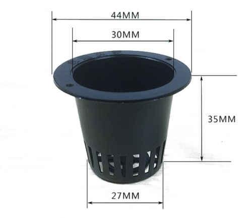 10 Pçs/lote Aquático Malha Net Cesta Pote Plástico Redondo Para Plantas Da Lagoa de Água 4.4*3.5 cm