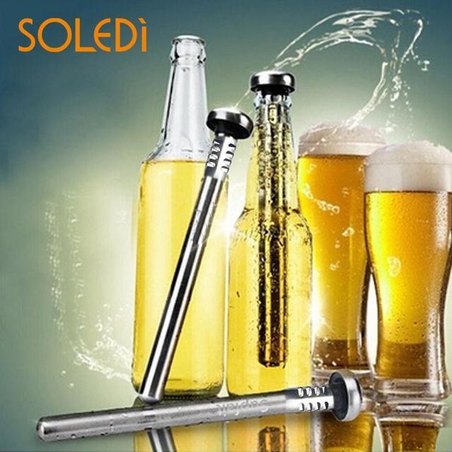 Soledi Stainless Steel Beer Wine Cooling Stick Bottle Cooler Whiskey Stones Convinient Beverage