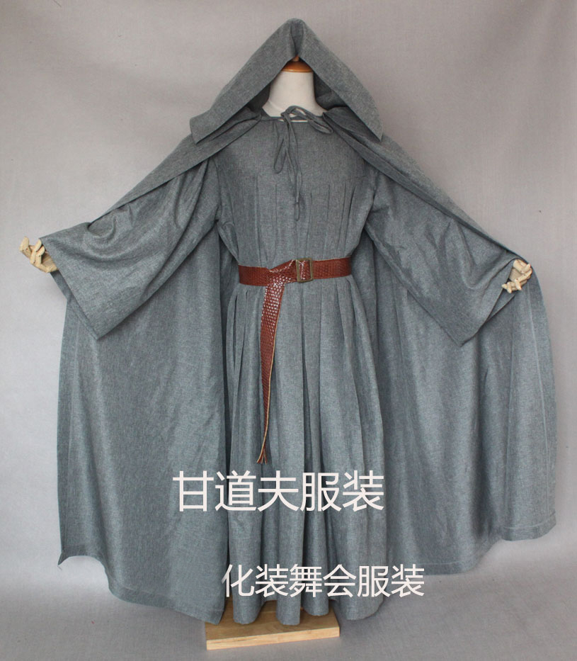 GANDALF The GRAY Men/'s Robe Lord Of The Rings Cloak Wizard Cape M XXL Costume