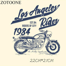 Prajna Motorcycle Skull Heat Transfer Patch 1987 West Coast Style Iron On Patches Clothes Jacket Decoration Back Biker D1