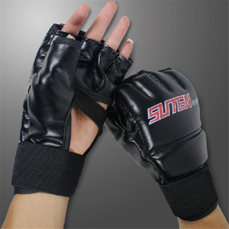 MMA Muay Thai Training Punching Bag Mitts Sparring Boxing Gloves Gym for MMA or any boxing training adjustable, L22cm*W12cm