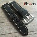 Watchbands Genuine Leather Strap Watch Accessories 18MM 20MM 22MM 24MM Men Women Black Watch Band Manual Cozy