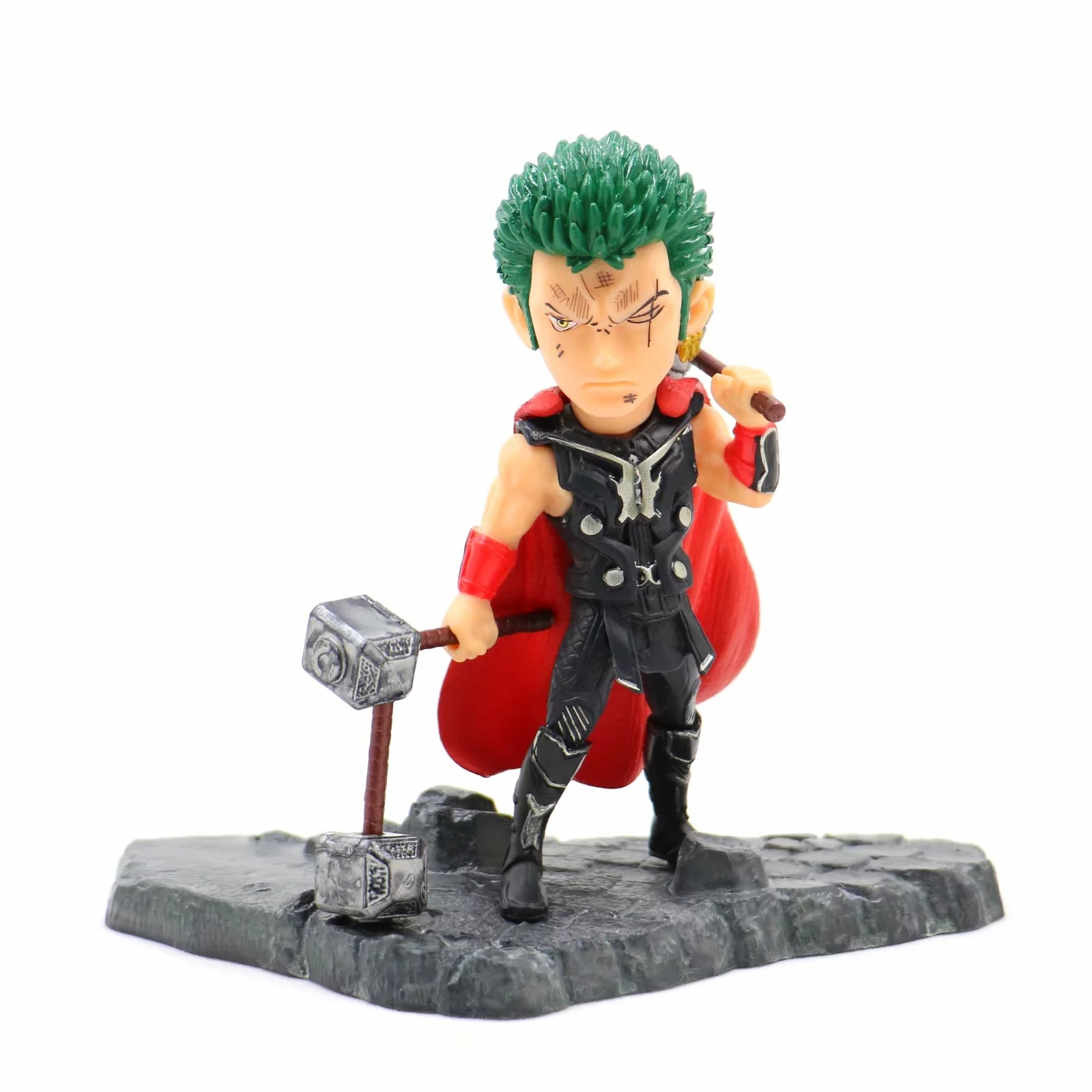 Anime One Piece 12cm Roronoa Zoro as Thor Ver. Action Figure Collection Model Toys