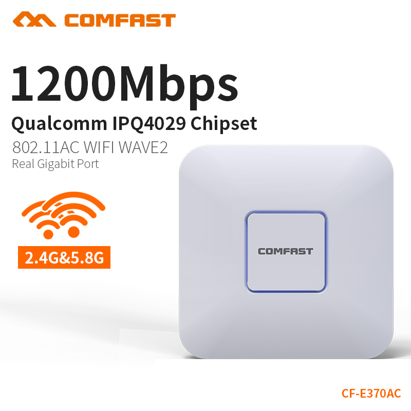 COMFAST 1200Mbps Real Gigabit Router Wifi Access Point 2.4Ghz + 5.8Ghz Wireless AP Support Openwrt Wifi Routers CF-E370AC comfast сравни 912ac 2 4g 5 8ghz интеллектуальный двухдиапазонный 1200mbps максимальная скорость usb3 0 интерфейса беспроводной адаптер