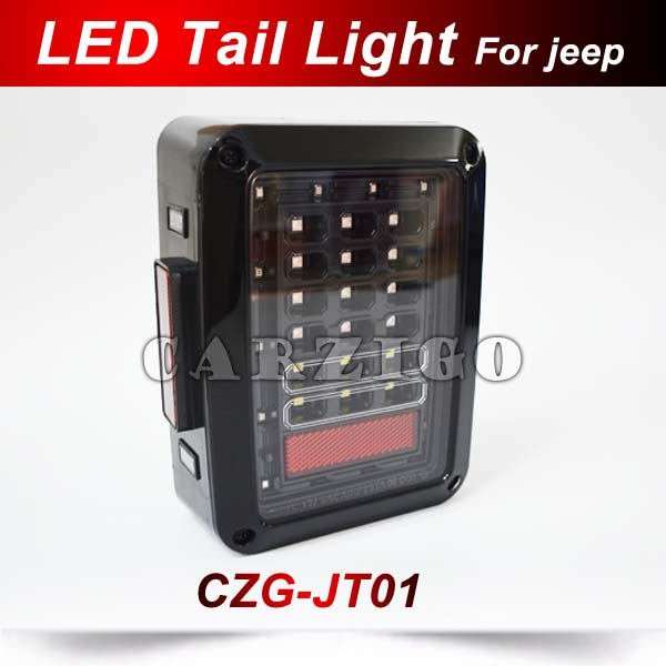 СЗГ-JT01 черный LED задний фонарь Европейская Версия для Wrangler Виллиса 4x4 внедорожного Красный светодиодный хвост света 12V подходит с 2007 по 2017 годы