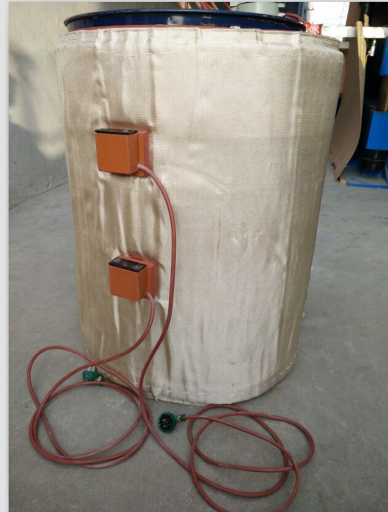 220 V 53 gallons/200L seau complet bande de silicium en métal tambour à huile chauffage 250*1740mm 2kw
