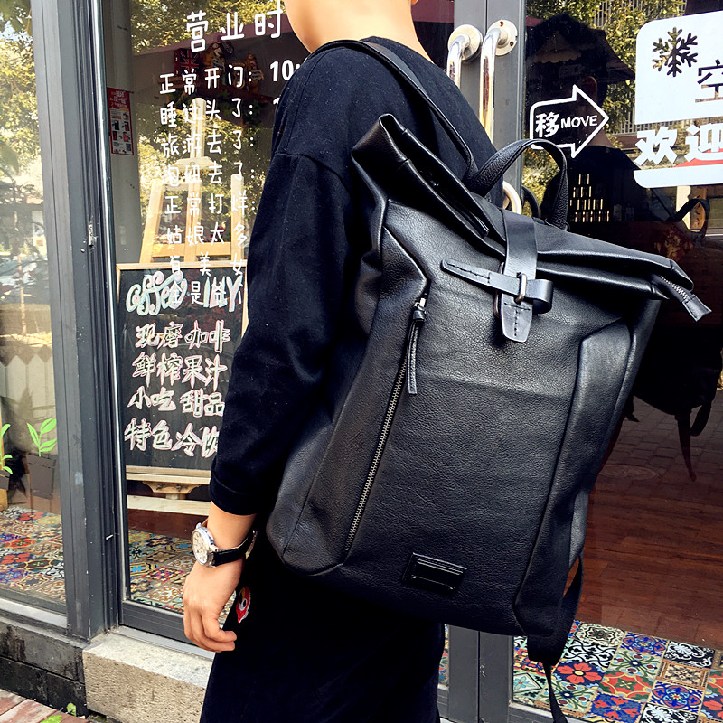 2017 High Class Genuine Leather Backpack The Latest Men Luxury Brand Backpacks Unisex Cow Leather Large Capacity Weekend Bag high quality men genuine leather backpack italian 100% cow leather unisex bag large capacity casual vintage backpacks mochila