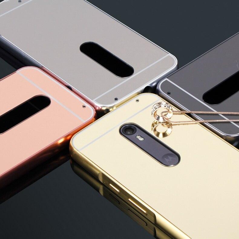 Luxe Rose Or Miroir Cas Pour Motorola Moto X style Cas XT1572 XT1570 shell  Couverture Arrière Pour Moto X style Édition Téléphone couverture 75db9646ca5