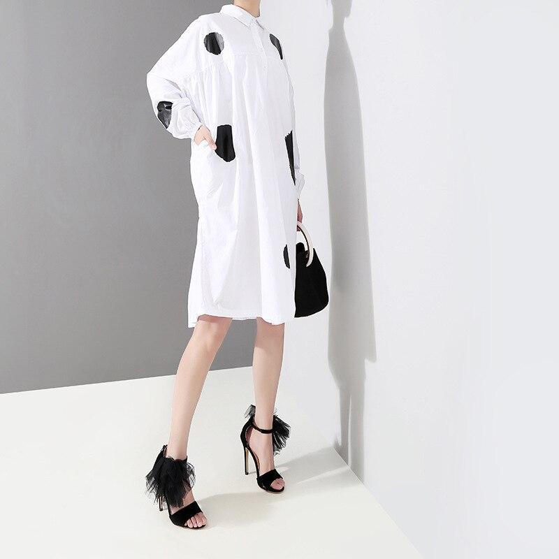 f3617ec4ec2 Ol Élégante D été Robes Femme Femmes Robe Black Dot Décontracté Pour  Printemps Été white Ample ...