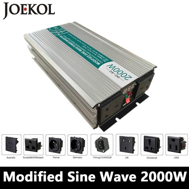 2000W Modified Sine Wave Inverter,DC 12V/24V/48V To AC 110V/220V,off Grid Power Inverter Work With Solar Wind Battery Panel