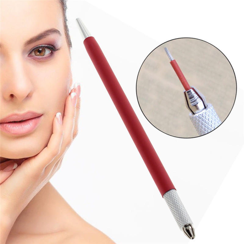 Hot Korean Red Slim Half Permanent Handmade Manual Tattoo Eyeliner Lip  liner Eyebrow Pen-in Tattoo accesories from Beauty & Health on  Aliexpress.com ...