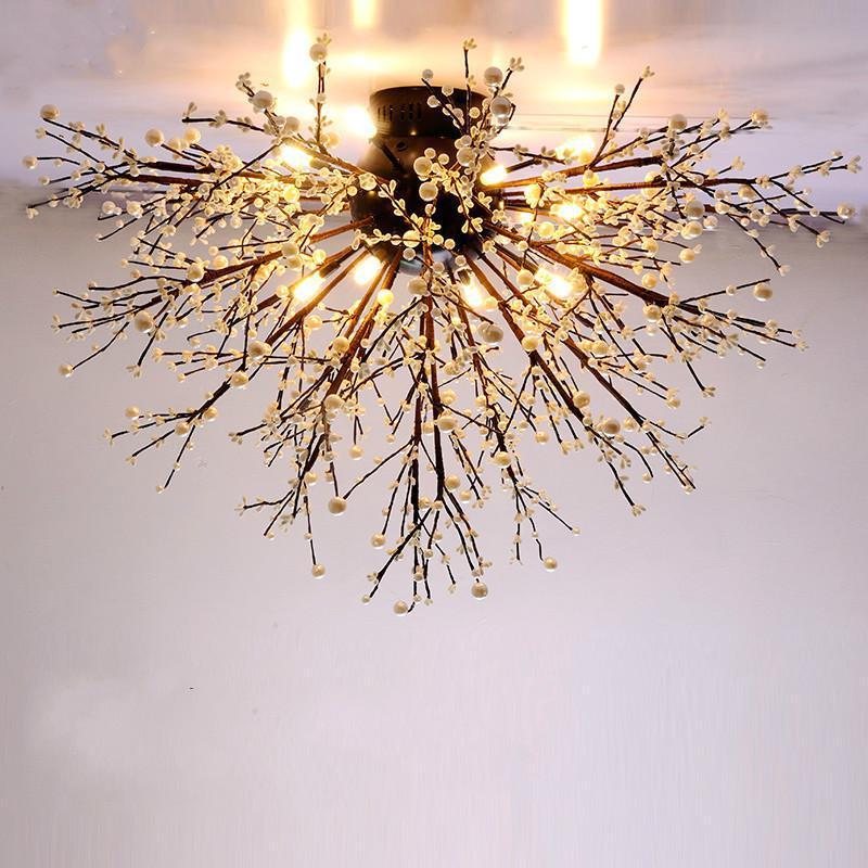 sala estar quarto lampada do teto cristal iluminacao casa luzes teto 05