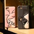 Mobile phone case para iphone 7 7 plus bonito dos desenhos animados do silício casos tampa traseira macia adorável shell protetora para iphone 6 6 s além de