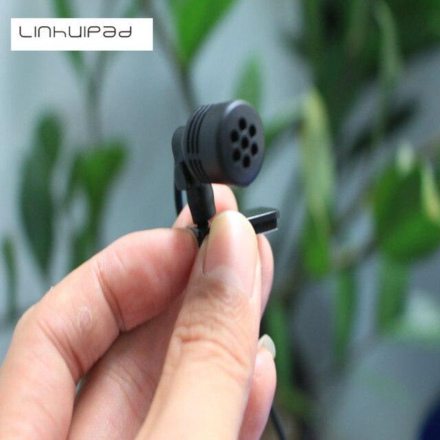 Linhuipad มินิรถภายนอกไมโครโฟนสำหรับเครื่องเล่น DVD Player 3 m สาย 2.5 มม. เสียงแจ็ค collar ไมโครโฟน 2 ชิ้น/ล็อต