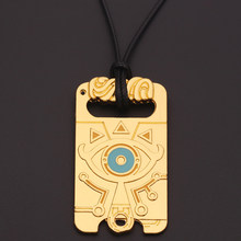 Legend of Zelda Golden Pendant Necklace High Quality Rope Chain Bijoux Choker Necklace For Fans Collar Jewelry Wholesale(China)