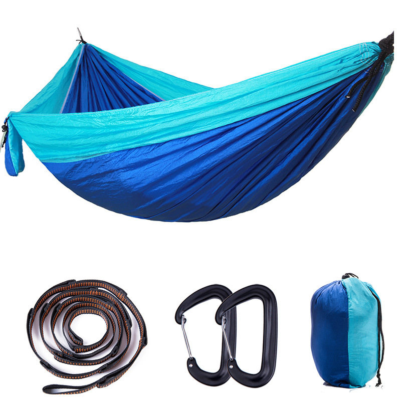 Portable Nylon Parachute Hammock Camping Survival Garden Leisure Travel 2-3 Person Hamak with Aluminum Alloy Hanging Buckle 300 200cm 2 people hammock 2018 camping survival garden hunting leisure travel double person portable parachute hammocks