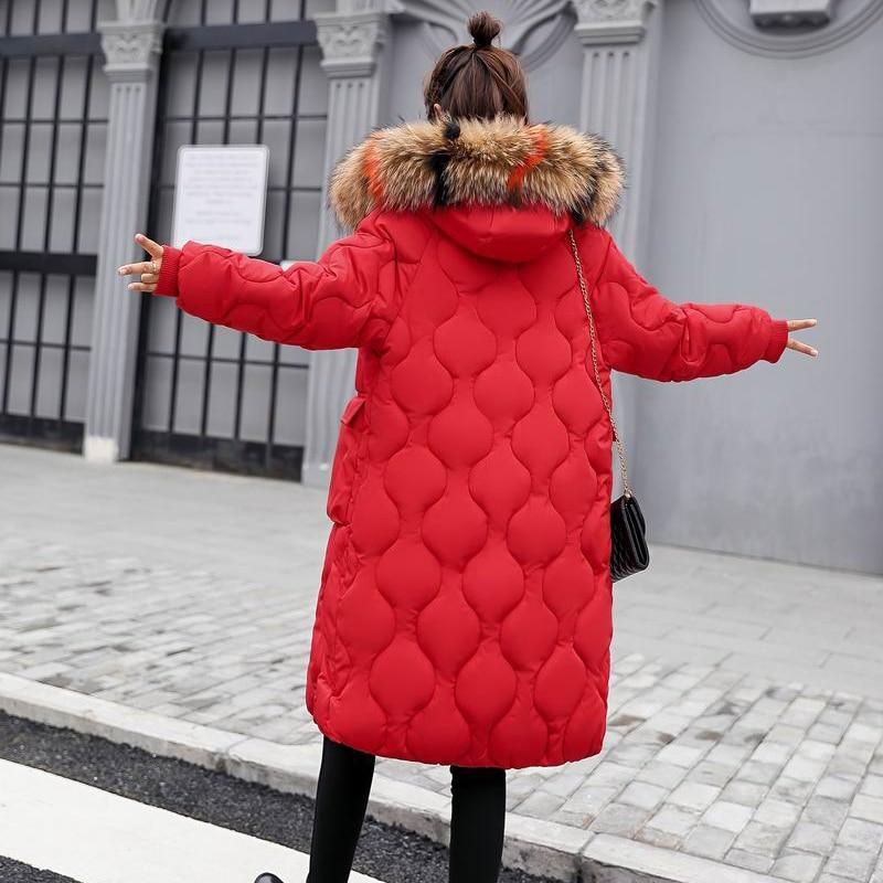 Col Rembourré ardoisé De Doublure Fourrure Manteaux Femmes Inverno 2018 Épais D'hiver rouge Nouvelle Femelle Parkas noir Colorfu Feminino caramel Casacos rust Beige Red Coton Veste xqRwYO