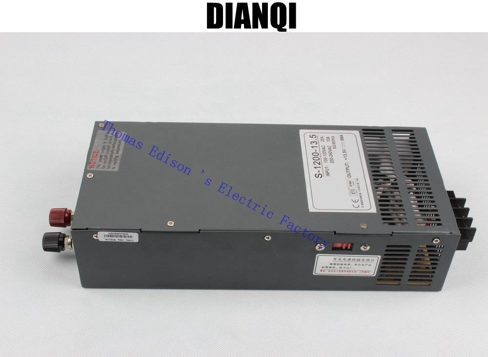 ФОТО 1200W 13.5V 88A Switching power supply  input 110v or 220v for LED Strip light AC to DC power suply 1200w ac to dc power supply