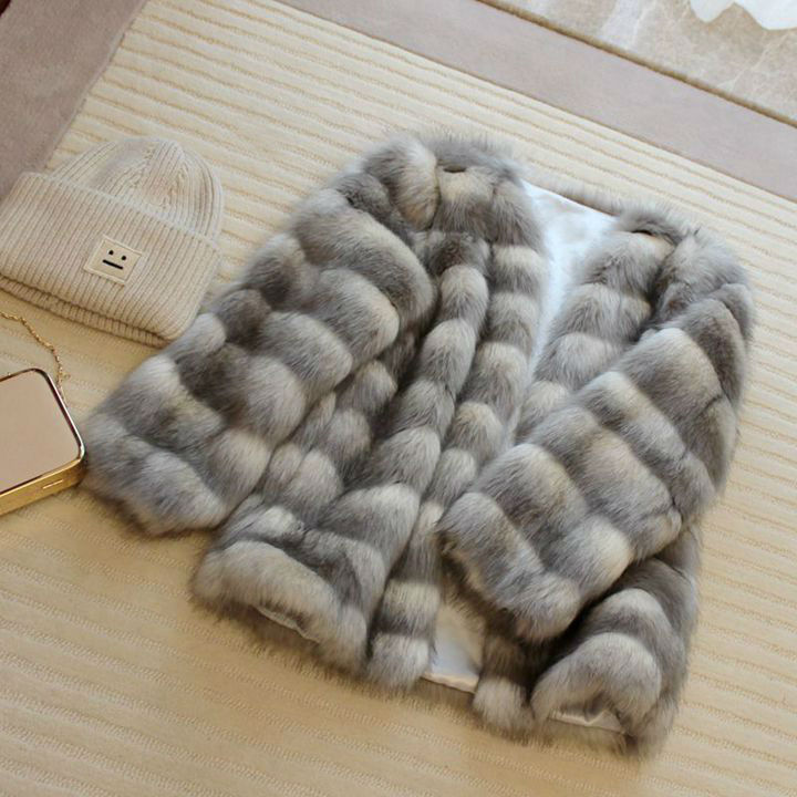 2019 Fur Coat Fur Jacket Coat Slim Faux Rushed Fox Rex Three Quarter European Fashion Leisure New Winter Like A Artificial Ms.