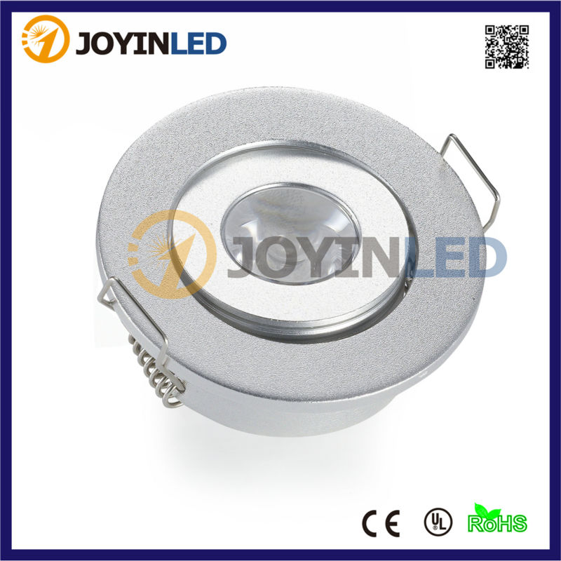 10pcs lot AC DC12V Silver Round MINI LED Spotlight 3W Recessed LED Ceiling Lighting for Roofs