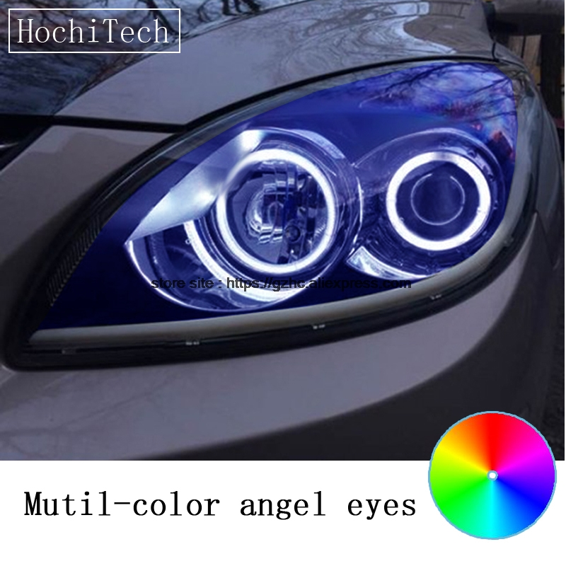 HochiTech for Hyundai i30 2008-2011 car styling RGB LED Demon Angel Eyes Kit Halo Ring Day Light DRL with a remote control hochitech for mazda cx 7 cx 7 2006 2012 car styling rgb led demon angel eyes kit halo ring day light drl with a remote control
