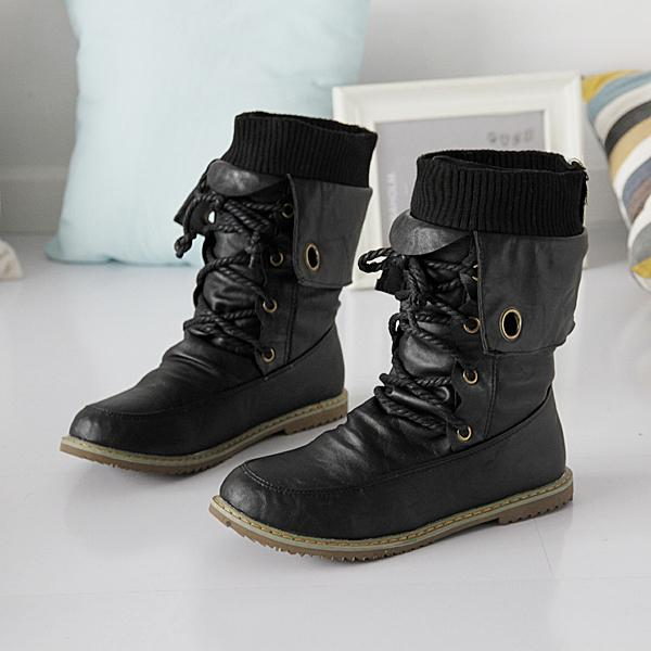 Aliexpress.com : Buy fashion motorcycle martin mid calf boots for ...