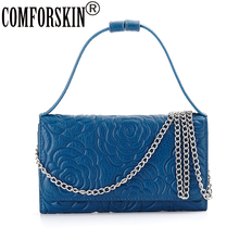 New Arrival Feminina 2017 Fashion Genuine Leather Messenger Bag High Quality Cowhide Factory Price On Sale