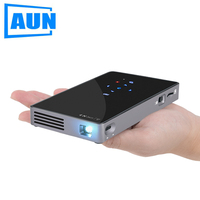 AUN Android 7 1 DLP Projector D5S Built In WIFI Bluetooth 4 500mAH Battery Optional D5