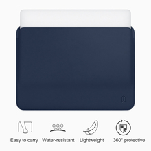 WiWU Laptop Sleeve for MacBook Air 13 inch Water-resistant PU Leather Case for MacBook Pro 13 15 Inch Ultra-slim Laptop Bag Case arrival selling ultra thin super slim sleeve pouch cover genuine leather laptop sleeve case for huawei matebook x pro 13 9 inch