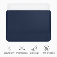 WiWU Laptop Sleeve for MacBook Air 13 inch Water resistant PU Leather Case for MacBook Pro 13 15 Inch Ultra slim Laptop Bag Case
