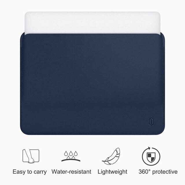 WiWU pochette pour ordinateur portable pour MacBook Air 13 pouces résistant à L'eau En Cuir PU étui pour MacBook Pro 13 15 Pouces Ultra-mince pochette d'ordinateur Cas
