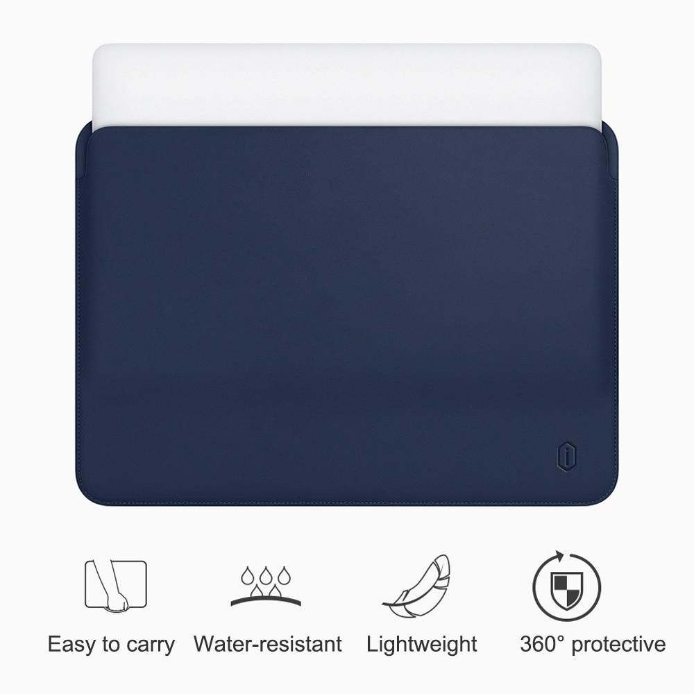 Wiwu pochette pour ordinateur portable pour Macbook Air 13 pouces résistant à l'eau en cuir Pu étui pour Macbook Pro 13 15 pouces Ultra-mince étui de pochette d'ordinateur