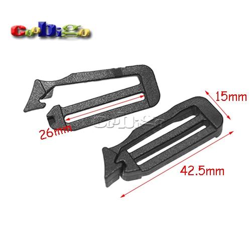 "1 ""(26mm) Plastic Looploc Slider Tri Glide Pas Gespen Tactische Rugzak Strap Webbing Bag Onderdelen Pick 5 ~ 500 Stks Pack # Flc087-b"