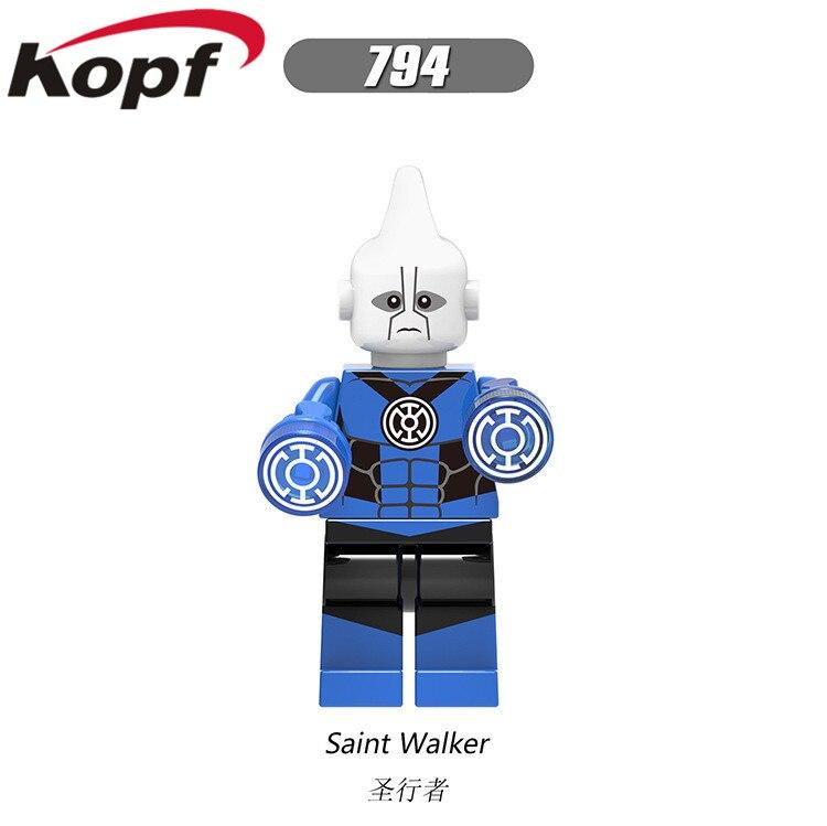Single Sale Atrocitus Star Sapphire Lgdigo Action Saint Walker Black Hand Bricks Model Building Blocks Children Gift Toys X0183