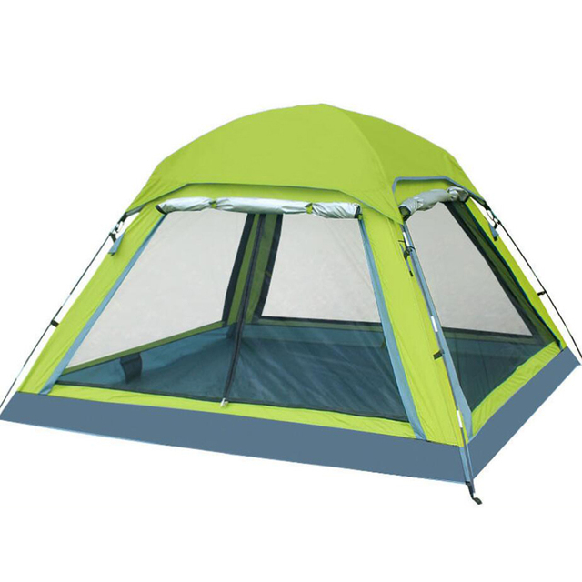 Unti-UV Ultralight Tent 3-4 Person Double Layers Travel Fishing Beach Large Camping Tent Outdoor Tents Camping Family China