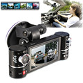 Car-styling New Dual Lens Car Camera Vehicle DVR Dash Cam Two Lens Video Recorder F600 Black