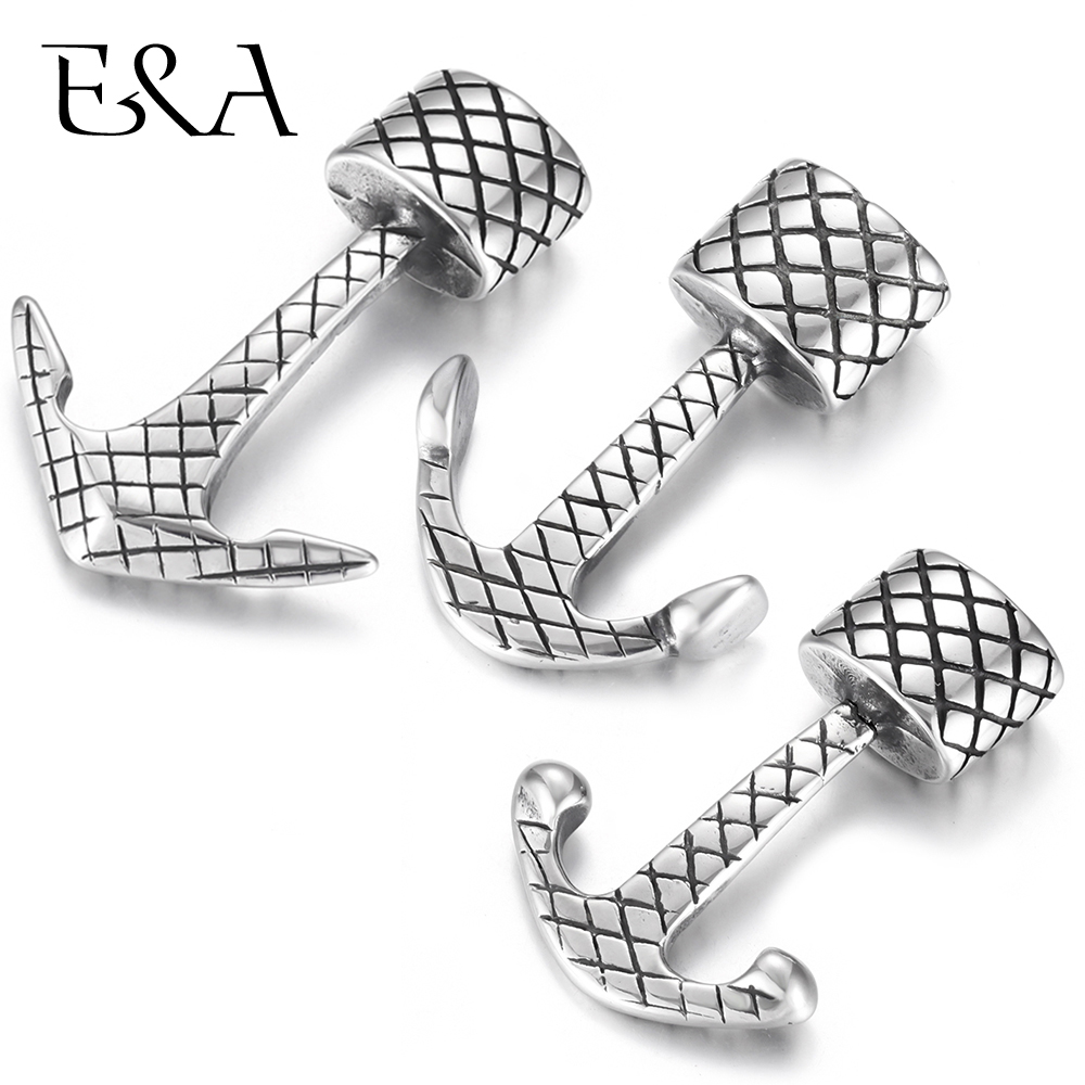 Stainless Steel Anchor Hooks Lozenge Hole 10*5mm Bracelet Clasp Jewelry Making Findings DIY Supplies Accessories Wholesale