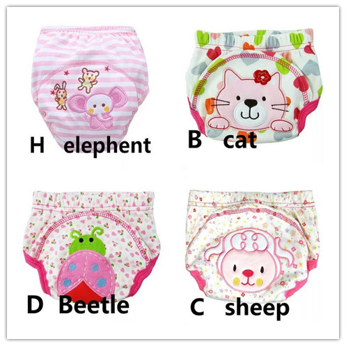 30pcs/lot Diapers Baby Diaper Children's Underwear Reusable Nappies Training Pants Panties For Toilet Training C